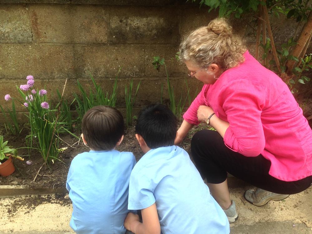 helping children at Cornerstone sm