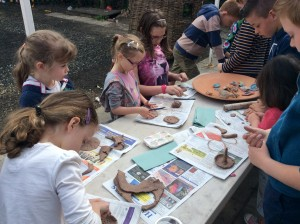making clay seeds for The Sower's Garden